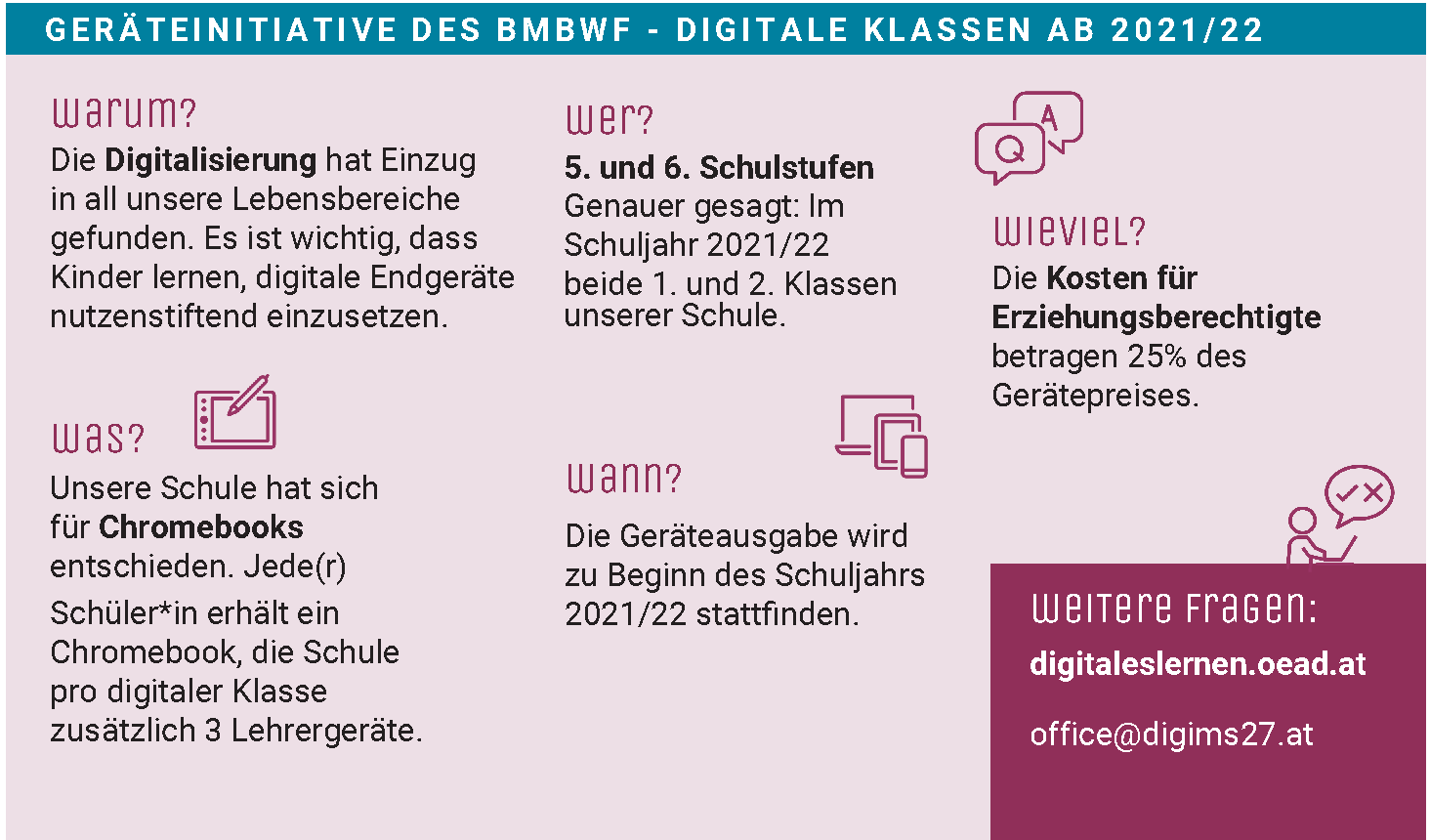 Elterninformation Digitale Schule